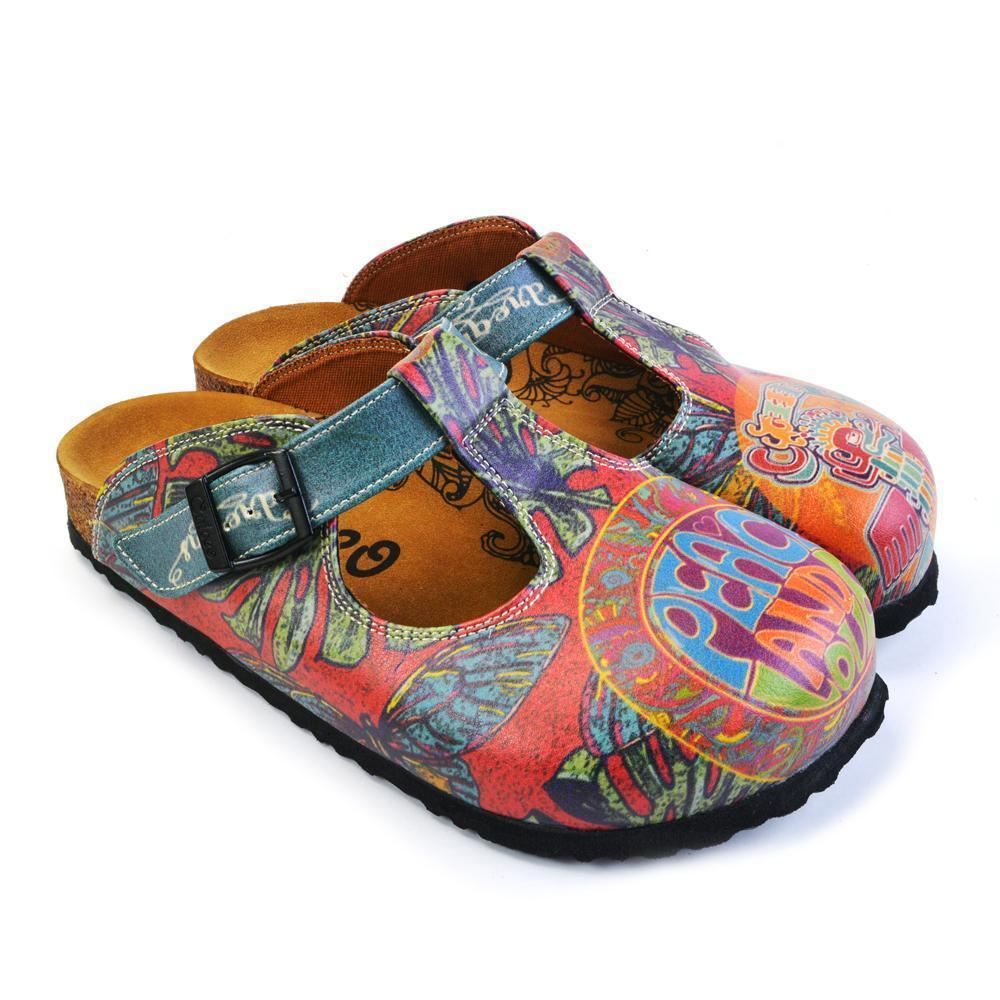 CALCEO Peace and Love Clogs CAL1505