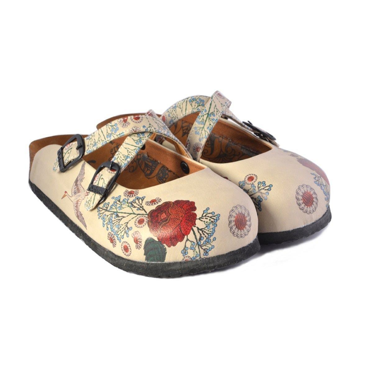 Rose and Bird Clogs CAL157