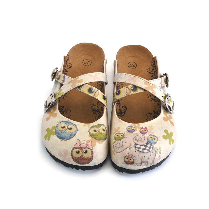 Goby Teal Elephant Clogs WCAL140