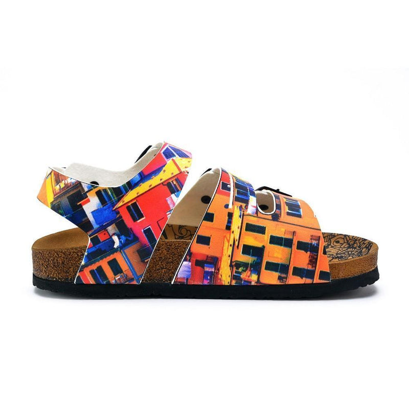Red, Orange, Yellow, Blue Colored Windows Patterned Clogs - CAL1905 (774944587872)