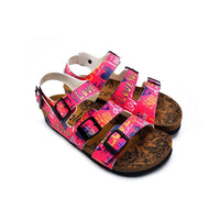 Pink, Yellow Color Hearts Pattern and Love Written Patterned Clogs - CAL1907 (774944718944)