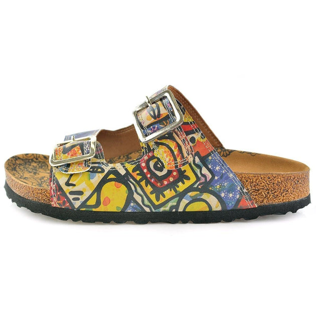 Blue Art Two-Strap Buckle Sandal CAL206, Goby, CALCEO Sandal