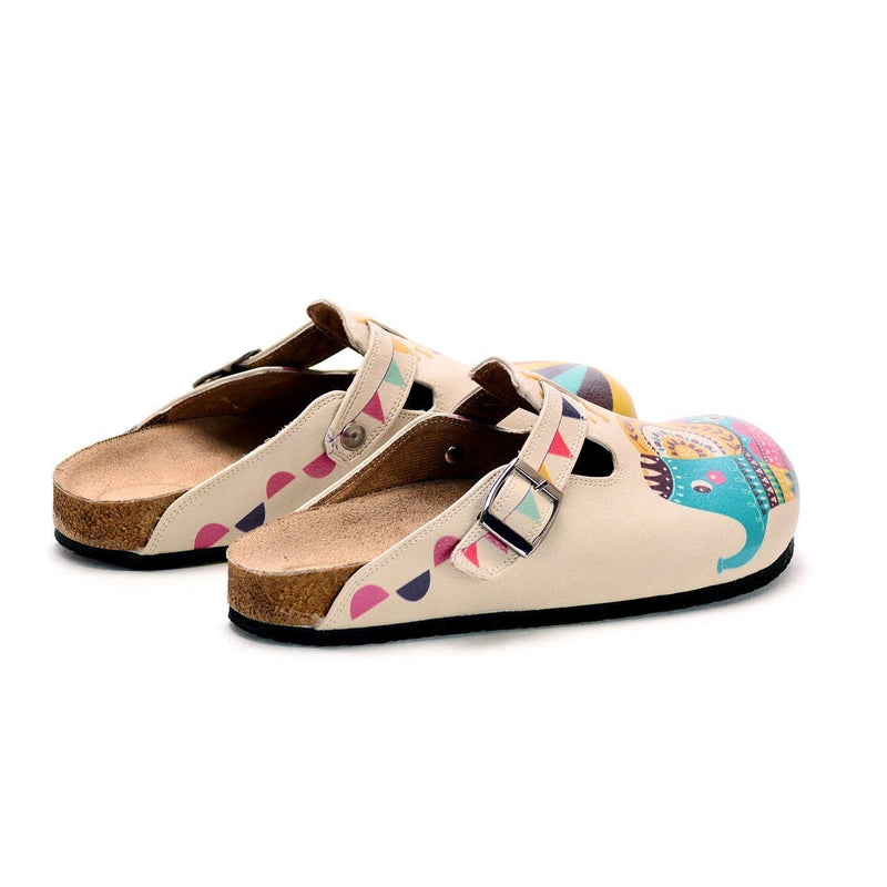 Peach Colorful Elephant Clogs CAL301 (737682325600)