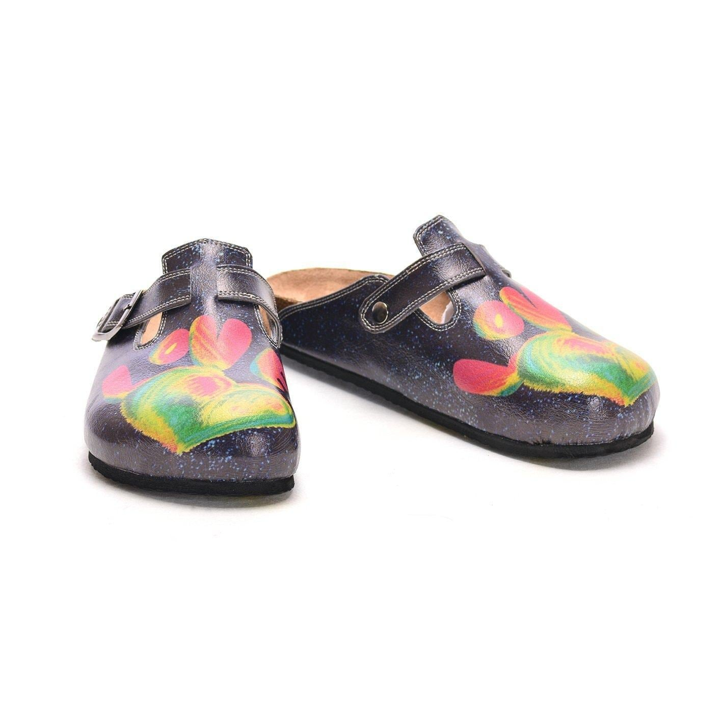 Navy Rainbow Love Clogs CAL303