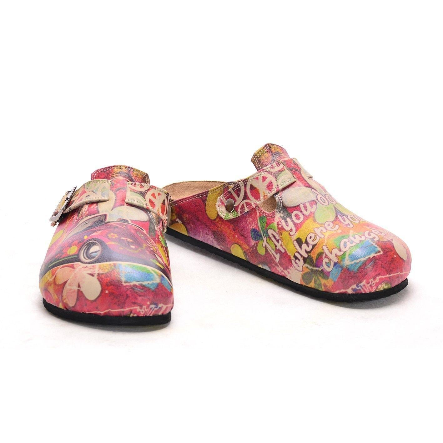 Pink VW Beatle Clogs CAL305