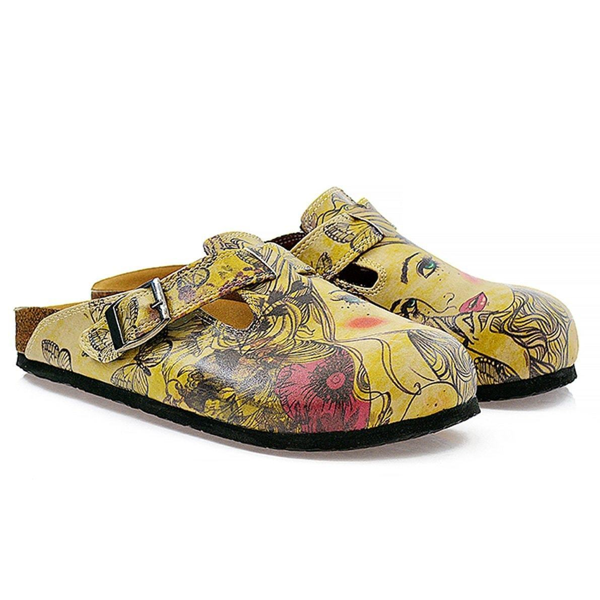 CALCEO Yellow Portrait Clogs CAL322