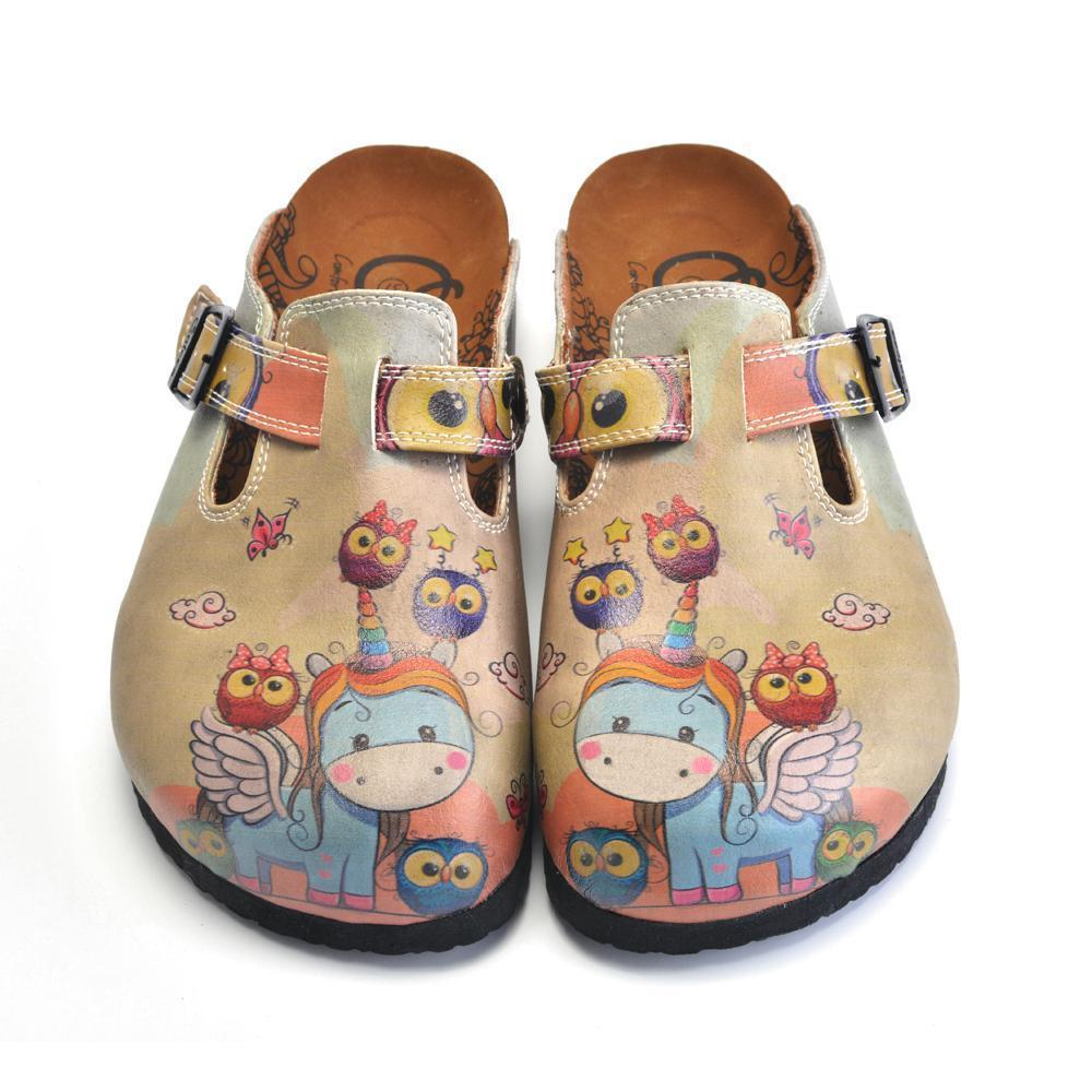 CALCEO Unicorn Rainbow Clogs CAL360