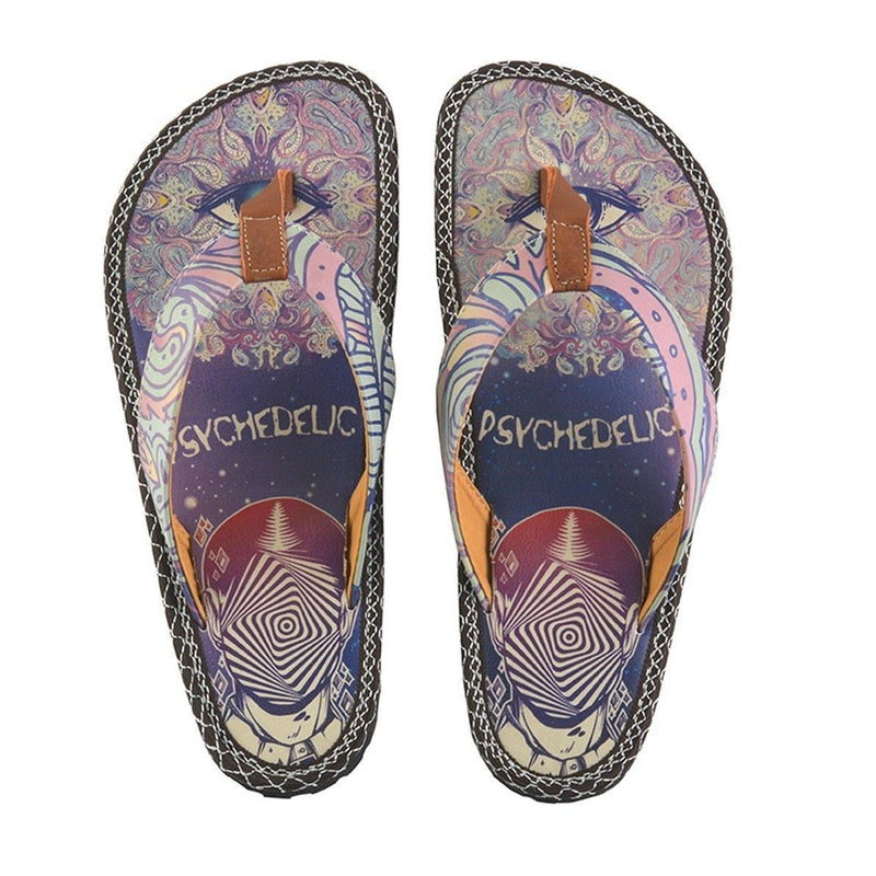Navy & Fuchsia Psychedelic Flip-Flop CAL410 (737681277024)