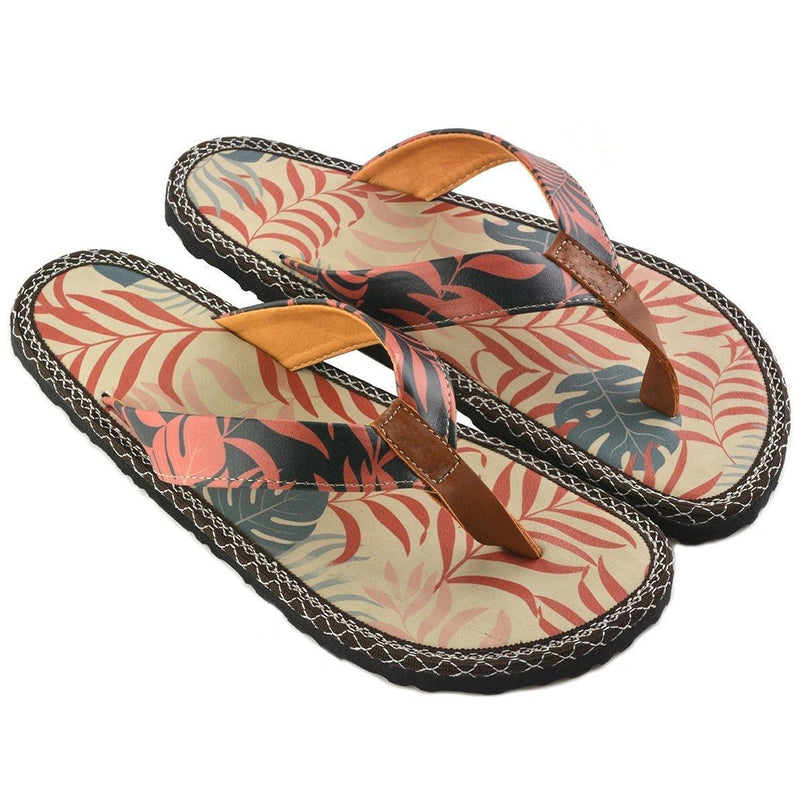 Black & Orange Jungle Flip-Flop CAL411 (737681244256)