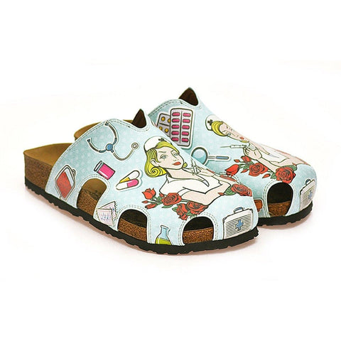Blue Nurse Clogs WCAL603, Goby, CALCEO Clogs