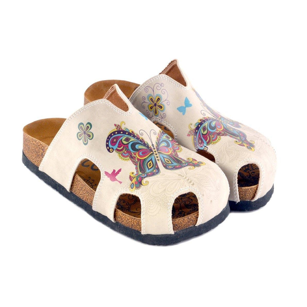 Butterfly and Bird Clogs CAL608, Goby, CALCEO Clogs