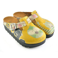 Yellow Owl & Bear Clogs CAL705 (737679736928)