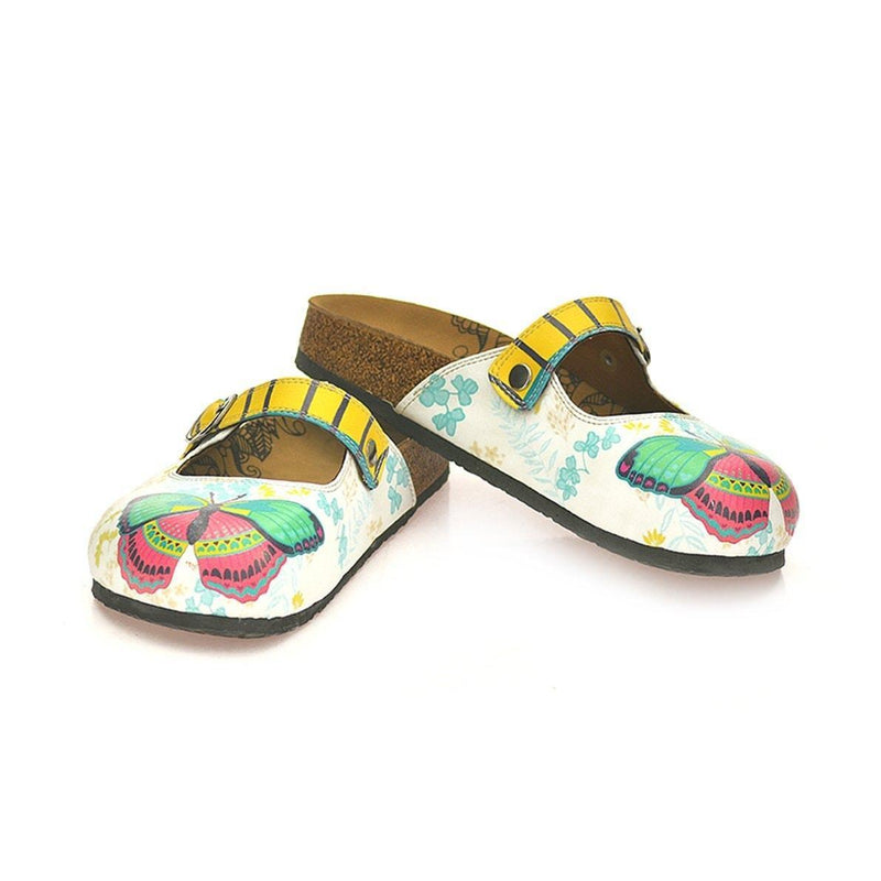 Green & Pink Butterfly Clogs CAL802 (737679573088)
