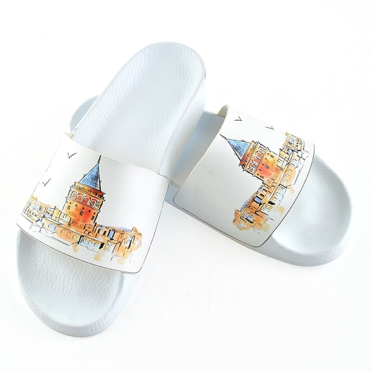 White Skyline Slide Sandal CAP101
