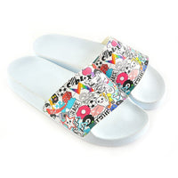 White Sticker Slide Sandal CAP103 (737678458976)