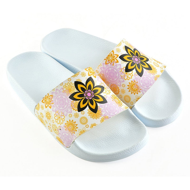 White Flower Slide Sandal CAP110 (737676951648)