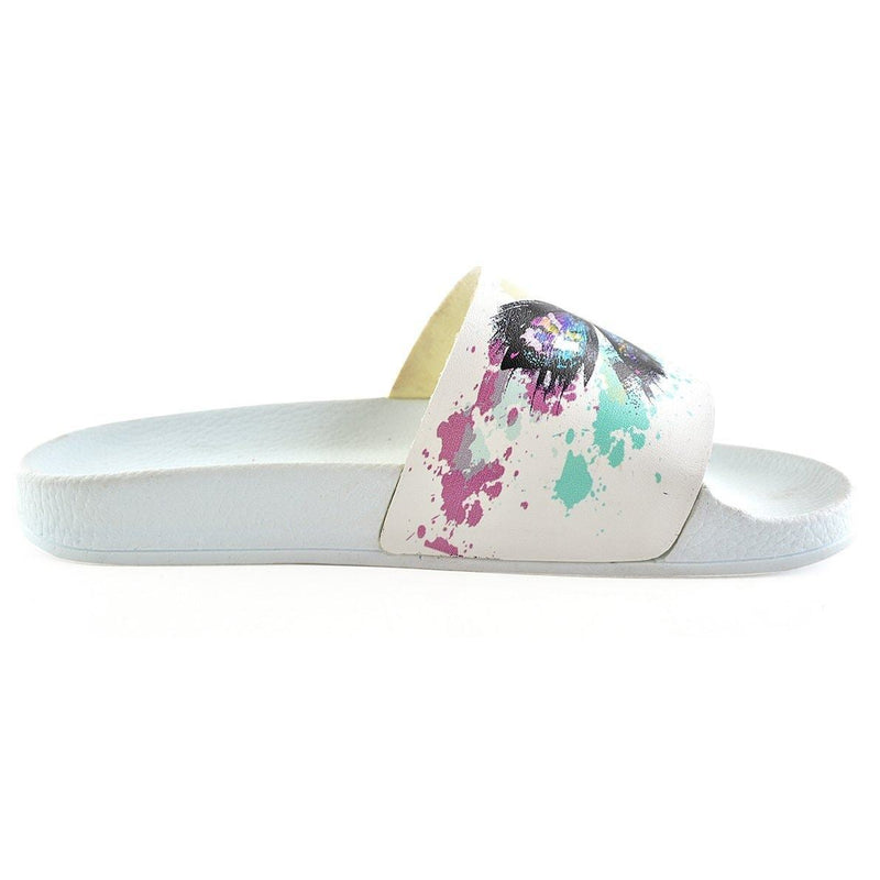 White Butterfly Slide Sandal CAP115 (737675837536)