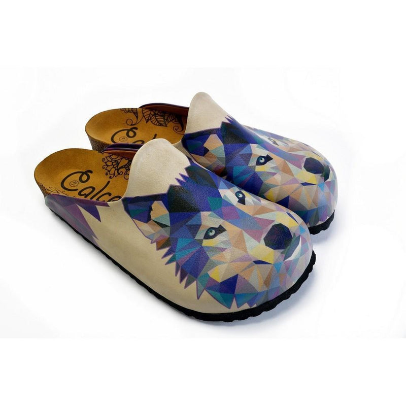 Colorful Wolf Patterned Clogs - CET102 (774936461408)