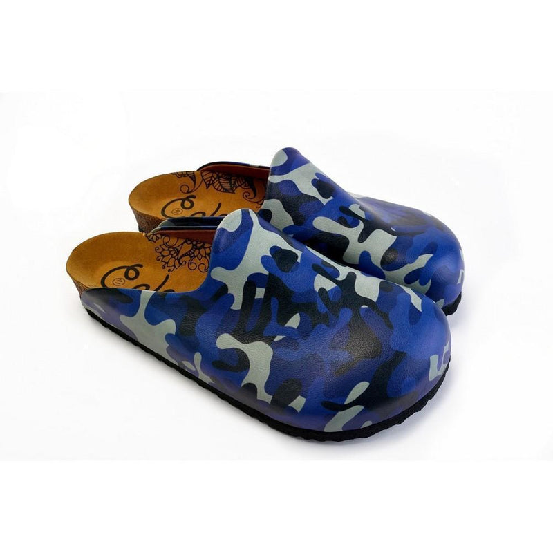 Grey, Dark Blue, Black Tones Colored Shaped and Moving Patterned Clogs - CET104 (774936821856)