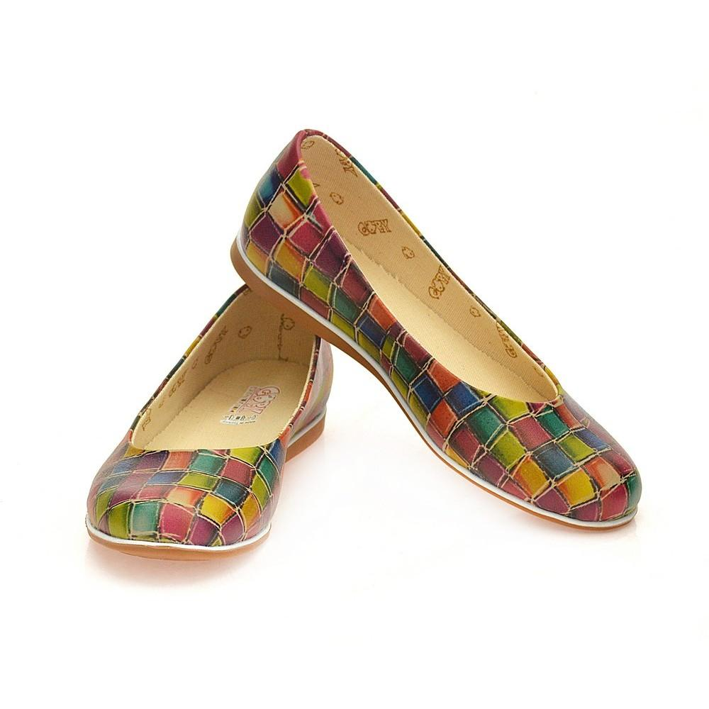 GOBY Colored Stones Ballerinas Shoes COC1006