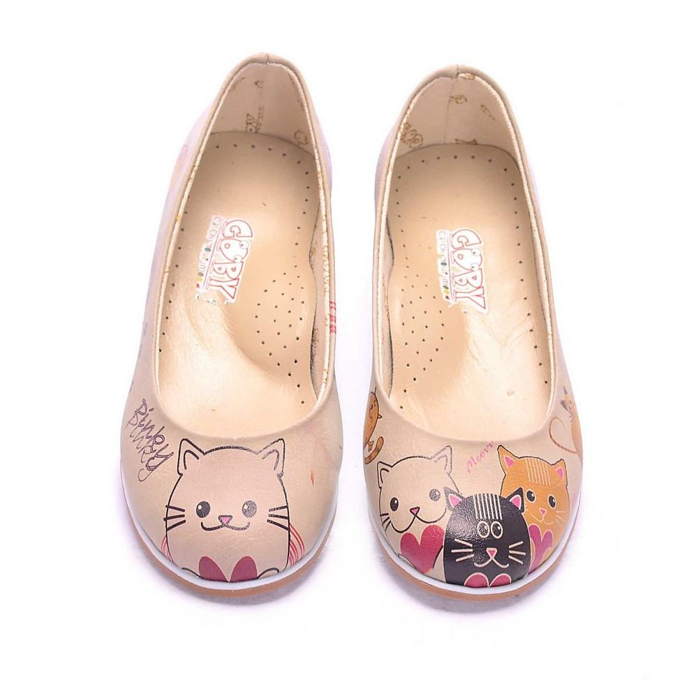 GOBY Cute Cats Ballerinas Shoes COC1007