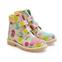 Colored Dots Long Boots COC103 (1405796778080)