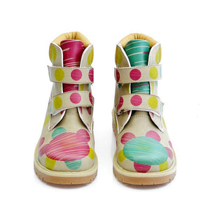 GOBY Colored Dots Long Boots COC103