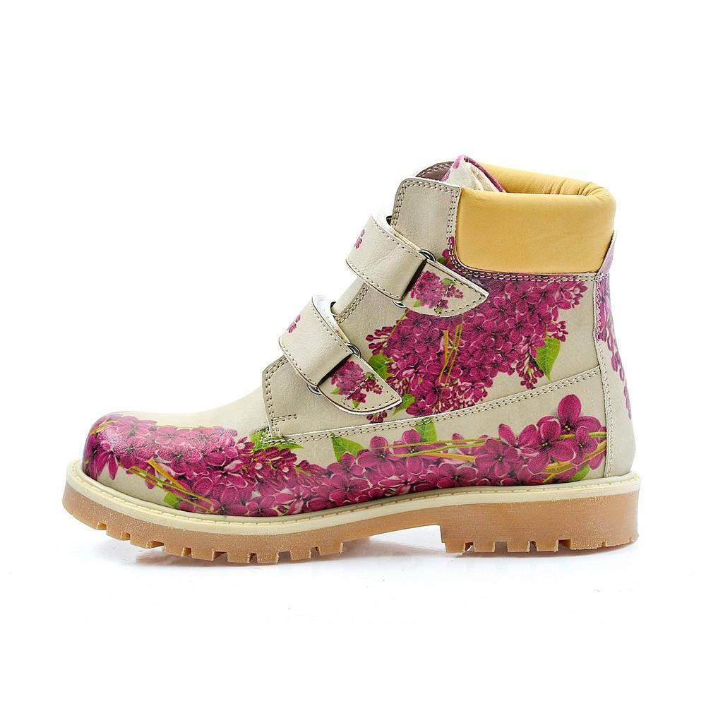 GOBY Purple Flowers Long Boots COC117