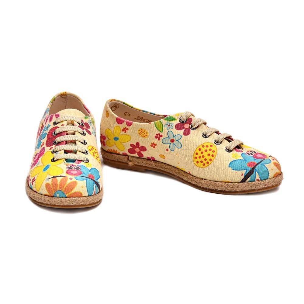 GOBY Colored Flowers Ballerinas Shoes COC1305