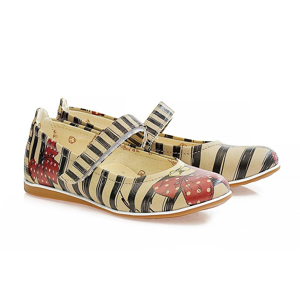 GOBY Cool Zebra Ballerinas Shoes COC1401