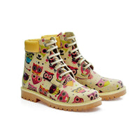 Cute Owl Short Boots COC203 (1405798056032)