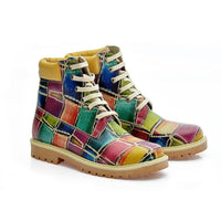 Colored Stones Short Boots COC206 (1405798121568)