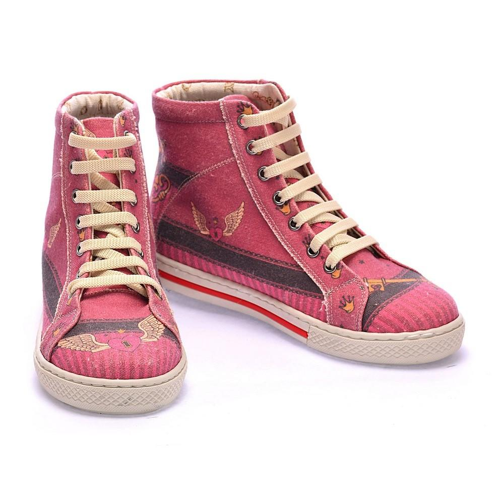 Angel Winged Heart Sneaker Boots COC2103