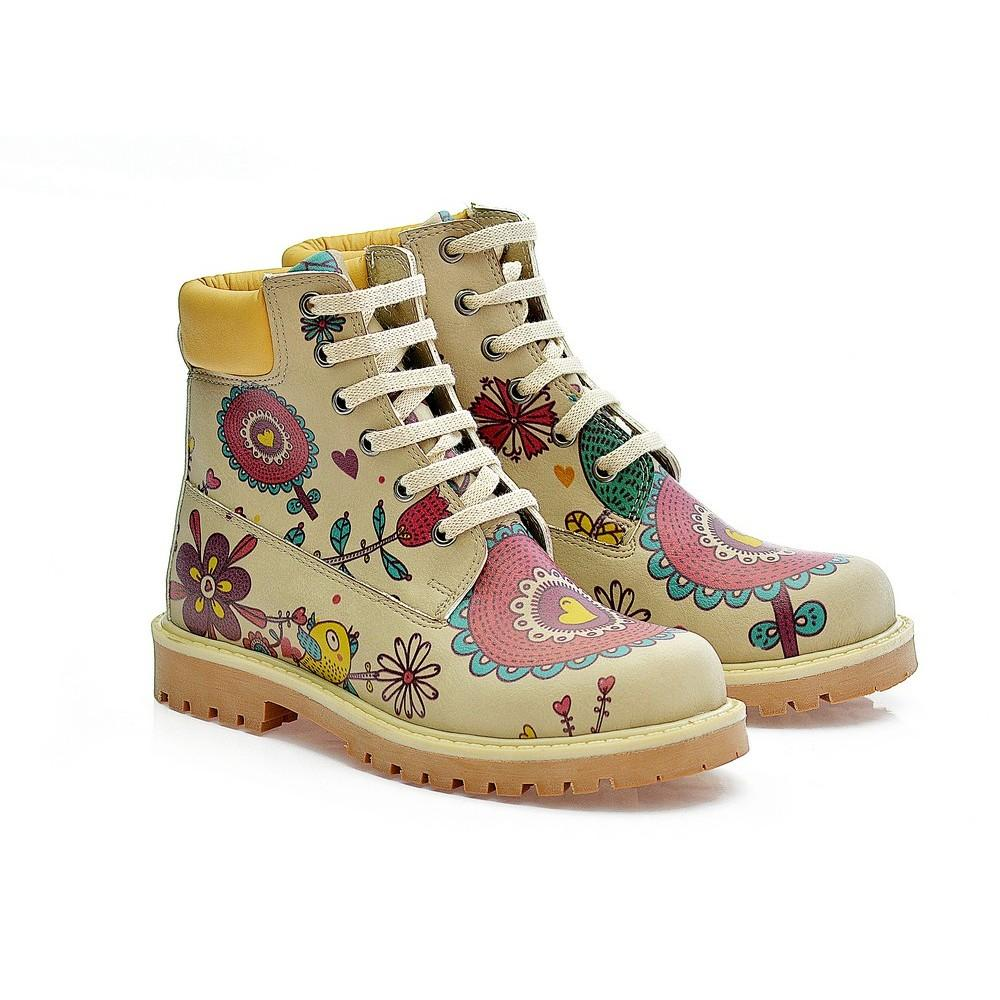 GOBY Rose Flowers Short Boots COC215