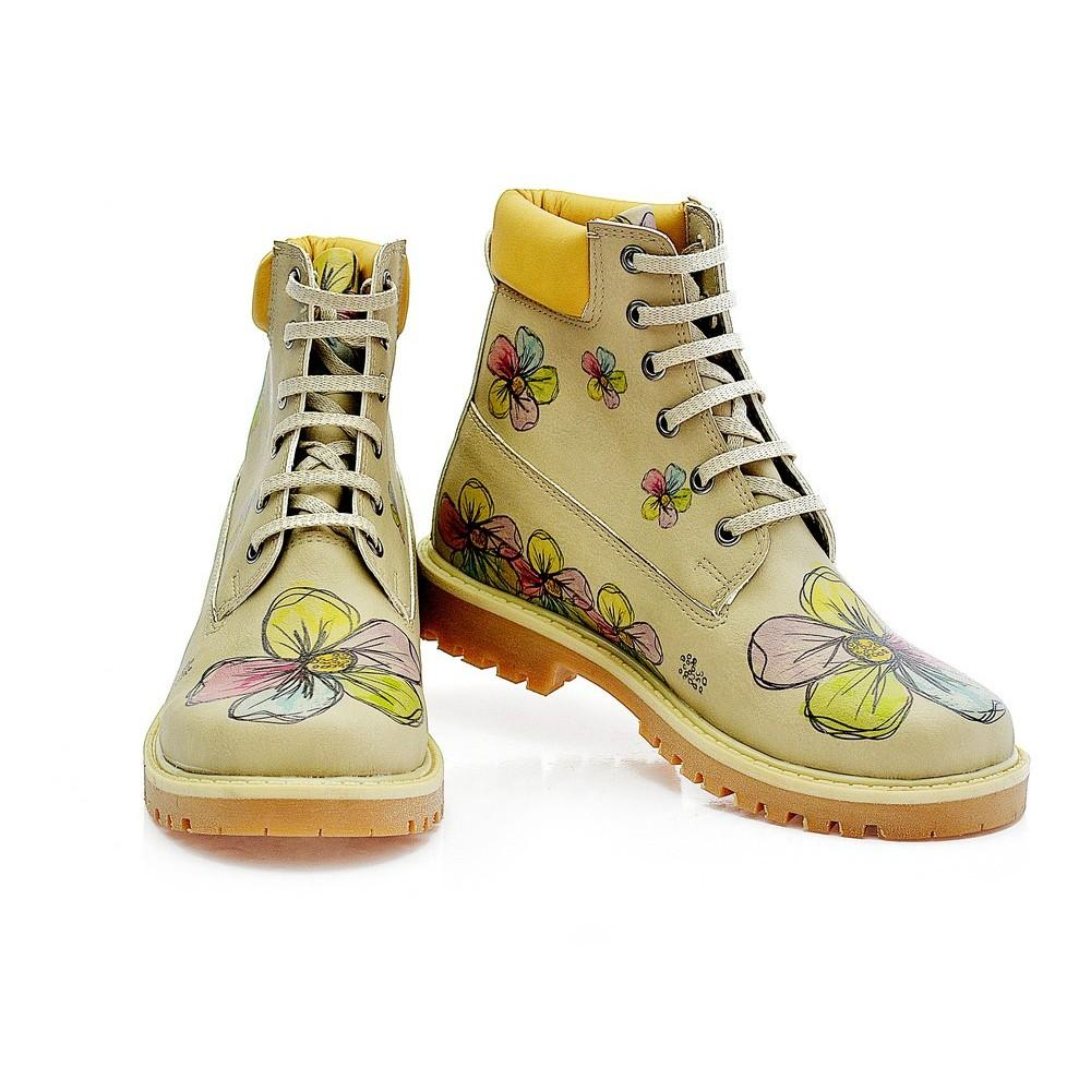 GOBY Flowers Short Boots COC216