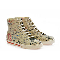 Music Sneaker Boots COC2209 (1405799039072)