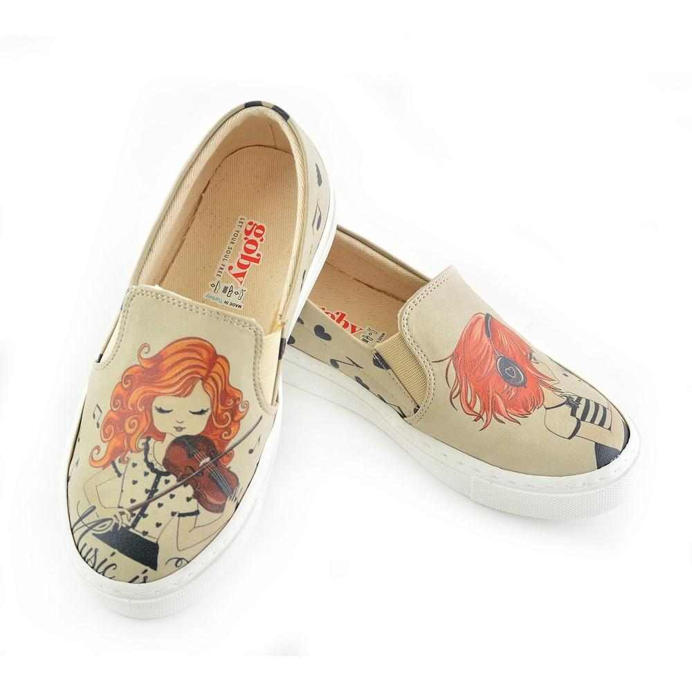 GOBY Violinist Slip on Sneakers Shoes COC4004