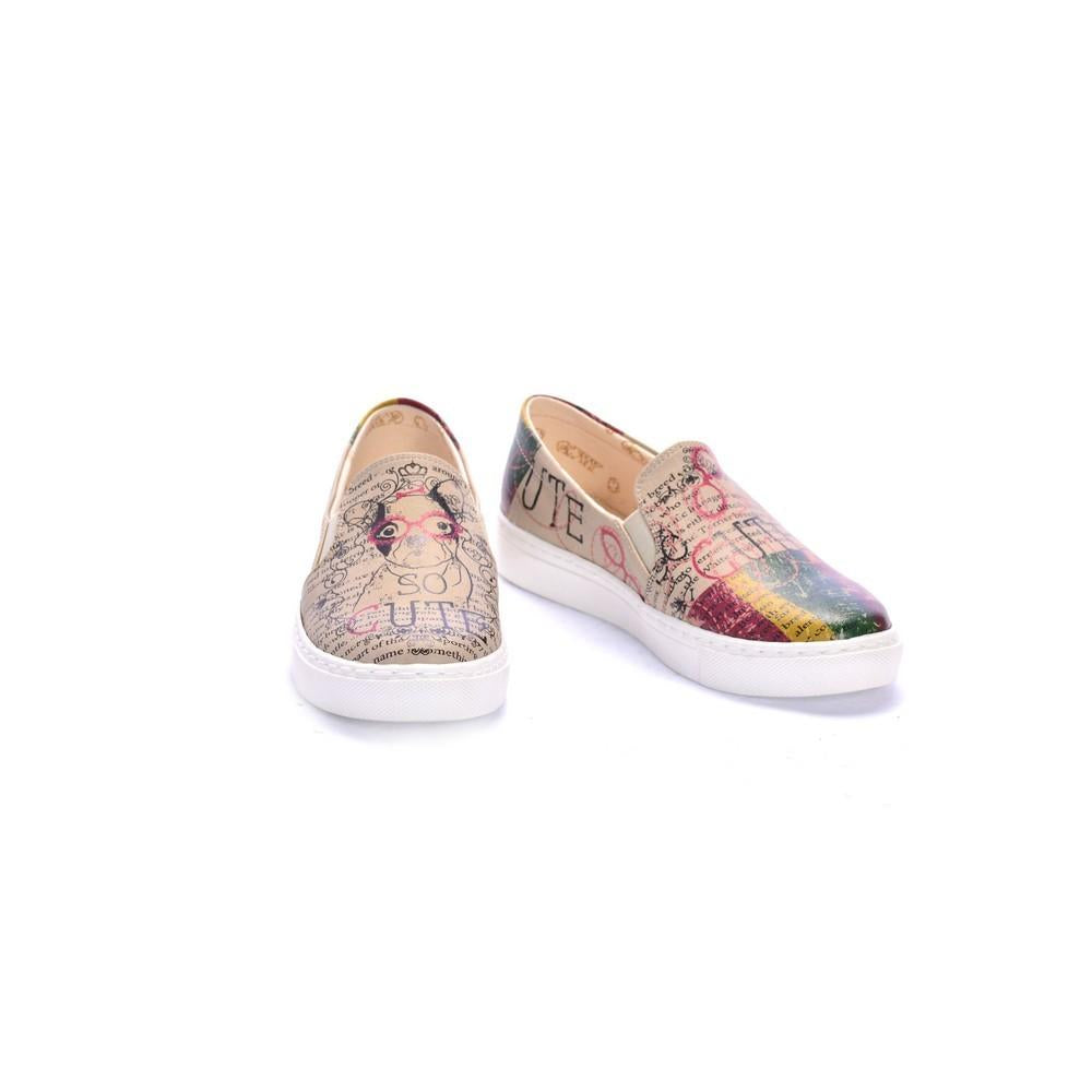 GOBY Cute Dog Slip on Sneakers Shoes COC4006