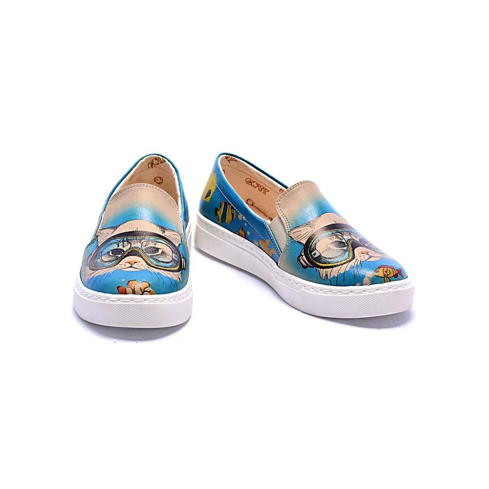 GOBY Swimmer Cat Slip on Sneakers Shoes COC4009