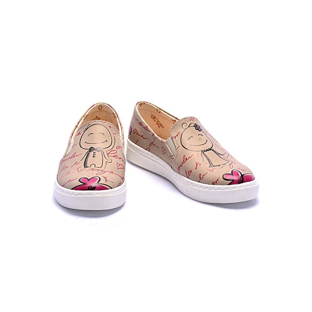 GOBY Cute Married Couple Slip on Sneakers Shoes COC4010