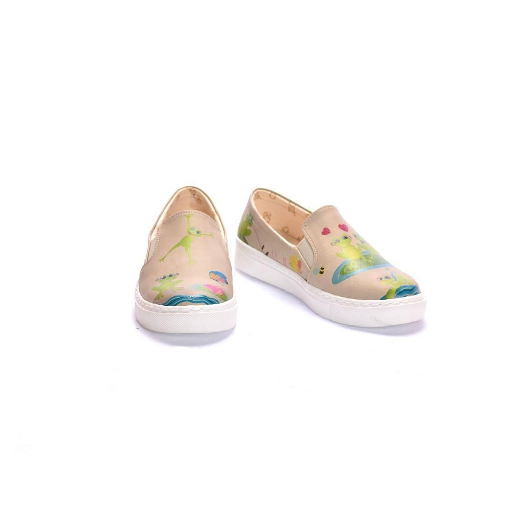 GOBY Cute Frog Couple Slip on Sneakers Shoes COC4012