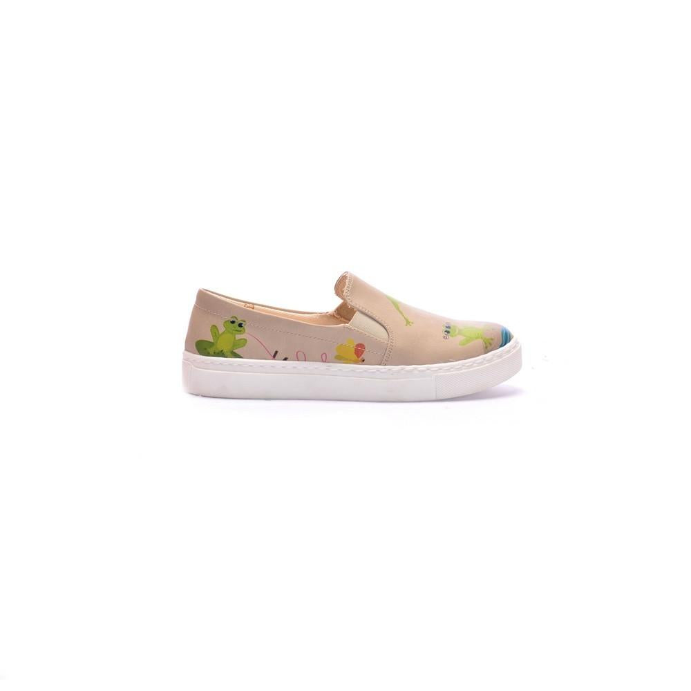 Cute Frog Couple Slip on Sneakers Shoes COC4012