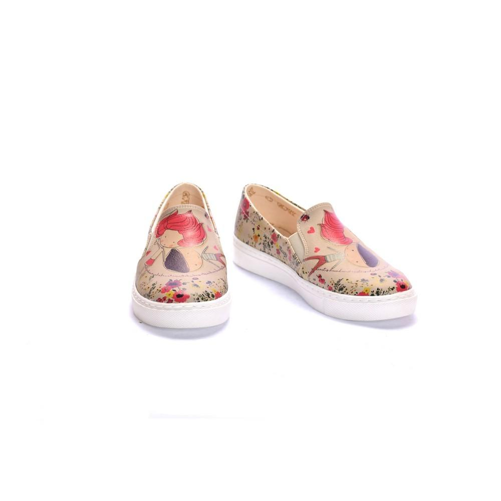 GOBY Cute Couple Slip on Sneakers Shoes COC4013