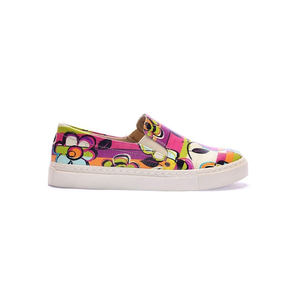 Flowers Slip on Sneakers Shoes COC4017