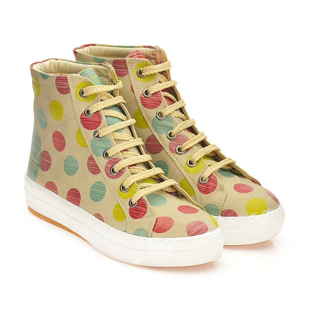 Colored Dots Sneaker Boots CW2014