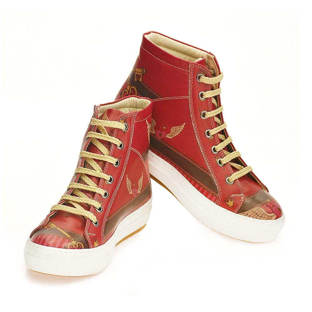 Angel Winged Heart Sneaker Boots CW2022