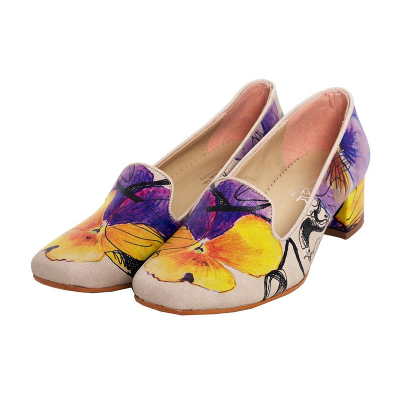 Flowers Career Heel Shoes DB114