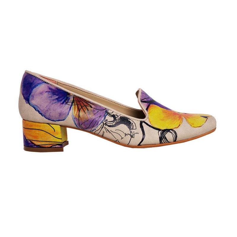 Flowers Career Heel Shoes DB114 (506264813600)