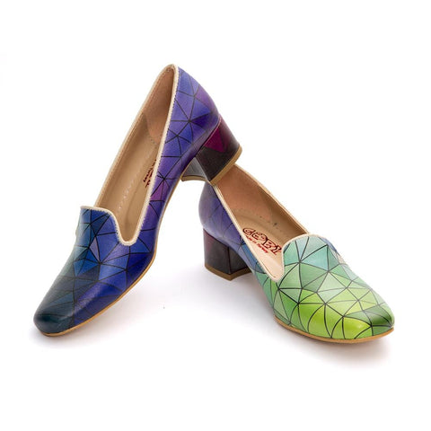 Colored Prismas Career Heel Shoes DB116 - Goby GOBY Career Heel Shoes