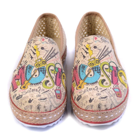 GOBY Music Slip on Sneakers Shoes DEL102